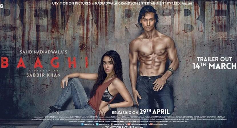 Baaghi, SHRADDHA KAPOOR,Tiger Shroff, Kissing Scene,Serial Kisser,Bollywood