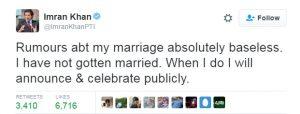 Imran Khan , Pakistan Tehreek-e-Insaf,Imran Khan,Marriage